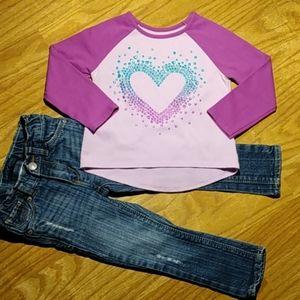 Levi's (2T) Skinny Jeans Garanimals (2T) Top